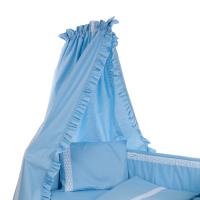 Beebi voodikardin pitsiga, sinine
