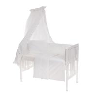 Beebi voodipesukomplekt pitsiga 6-osaline, valge