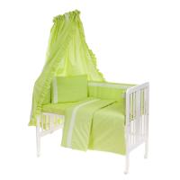 Beebi voodipesukomplekt pitsiga 6-osaline, roheline
