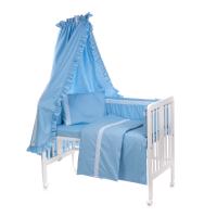 Beebi voodipesukomplekt pitsiga 6-osaline, sinine