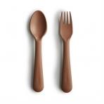 Mushie kahvel ja lusikas Caramel