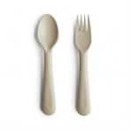 Mushie kahvel ja lusikas Vanilla