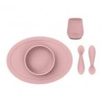 EZPZ esimene silikoonist nõudekomplekt- pastelne roosa