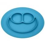 EZPZ silikoonist sektoritega taldrik ümara matiga- sinine
