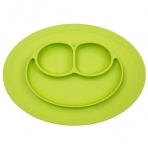 EZPZ silikoonist sektoritega taldrik ümara matiga- roheline
