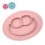 EZPZ silikoonist sektoritega taldrik ümara matiga- roosa