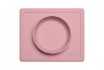 EZPZ silikoonist kauss 2in1 alusmatiga Mini Bowl- pastelne roosa