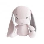 Effiki kaisujänes 35 cm, roosa-hallid kõrvad