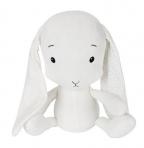 Effiki kaisujänes 20 cm, valge-valged kõrvad