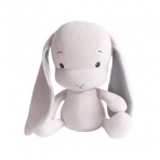 Effiki kaisujänes 20 cm, roosa-hallid kõrvad