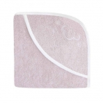 Effiki vannirätik kapuutsiga, 70x70 cm, roosa