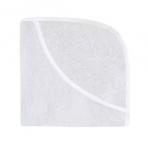 Effiki vannirätik kapuutsiga, 70x70 cm, valge/valge
