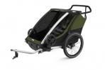Thule lastekäru Chariot Sport 2- Cypress Green- Black