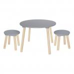 JaBaDaBaDo laste laud ja 2 tooli, hall