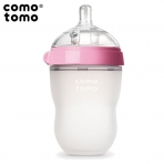 Comotomo lutipudel Anti-Colic 250ml,silikonist,roosa