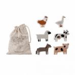 Bloomingville loomad puidust 6tk