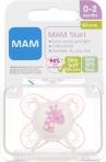 MAM Start 0-2m silikoonlutt sterilisatsioonikarbis Roosa