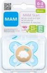 MAM Start 0-2m silikoonlutt sterilisatsioonikarbis Sinine