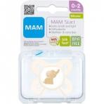 MAM Start 0-2m silikoonlutt sterilisatsioonikarbis Neutraalne