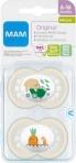 MAM Original 6-16m silikoonlutt sterilisatsioonikarbis 2tk, Neutraalne