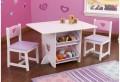 KidKraft Südamega laud ja toolid hoiukastidega