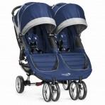 Baby Jogger kaksikute jalutuskäru City Mini Cobalt Grey