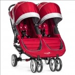 Baby Jogger kaksikute jalutuskäru City Mini Crimson Grey