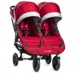 Baby Jogger kaksikute jalutuskäru City Mini GT Crimson Gray