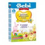Bebi Junior 4-vilja lastepuder piimaga Müsli+kirss+banaan 6x200g