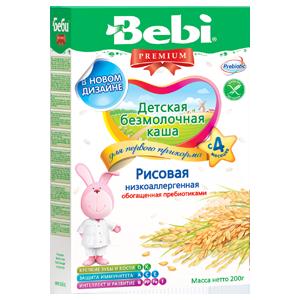 Bebi laste riisipuder piimata, lowallergic al 4 eluk. 6x200g