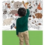 Crocodile Creek suur värvitav seinapilt-poster Zoo