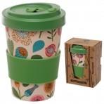 GB bambusest kaasavõetav kohvitops Autumn Flower -20% LADU TÜHJAKS!