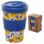 GB bambusest kaasavõetav kohvitops Brihgt Lemon -20% LADU TÜHJAKS!