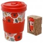 GB bambusest kaasavõetav kohvitops Red Poppy -20% LADU TÜHJAKS!