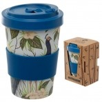 GB bambusest kaasavõetav kohvitops Vintage Peacock -20% LADU TÜHJAKS!