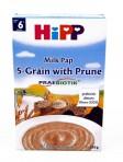 HIPP 5-vilja piimapuder ploomi ja prebiootikumidega 6x250g