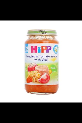 HIPP Tomati-nuudlipüree vasikalihaga BIO 12+kuud 6x220g