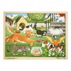 Melissa & Doug  puidust pusle Lemmikloomad 24 osa