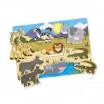 Melissa & Doug  puidust pusle väikelastele Safari