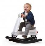 Childhome puidust kiiktool roller must/valge