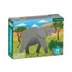 Mudpuppy mini pusle 48-osaline Aafrika elevant