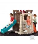 Ronimisseina ja liumäega mängukeskus Naturally Playful® Woodland Climber™