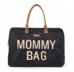 Childhome beebitarvete kott suur Mommy Bag must/kuld