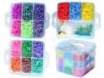 Rainbow Loom kummide kohver XXL 6000 kummi+tarvikud