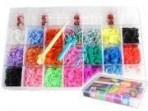 Rainbow Loom kummide komplekt 4200 kummi+teljed+ lisa tarvikud