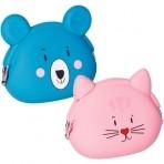 Lõbus rahakott roosa Kass ja sinine Karu