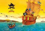 Kapten Sharky taldrikualus Kapten Sharky tormisel merel