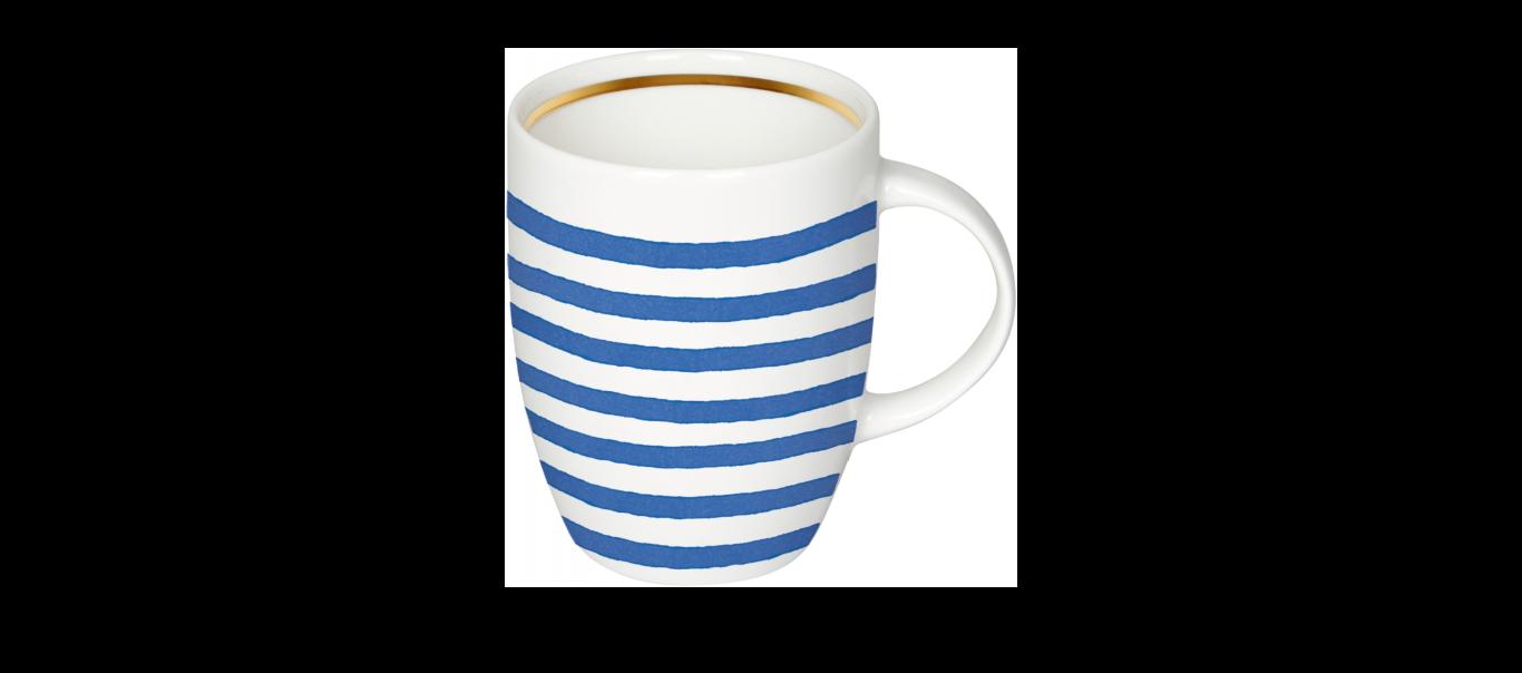 Tassikomplekt koos teepakiga sinised triibud