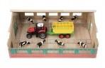 VanManen puidust farm+traktor haagisega+8 lehma (1:50)