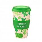 Sass & Belle bambusest kohvitops kaanega POWERED BY PLANTS
